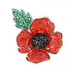 Poppy Brooch - 4 Petal - Large