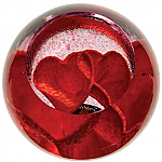 Caithness Glass Paperweight Love Hearts