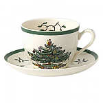 Spode Christmas Tree - Tea Cup and Saucer 7oz 0.2L