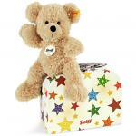 Steiff Fynn Beige Teddy Bear 28cm in Suitcase with Stars