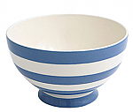 Fairmont & Main Kitchen Stripe Blue Footed Cereal Bowl
