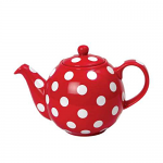 London Pottery Globe Teapot 2 Cup Red with White Spots