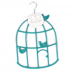 Scarf Hanger - Teal Bird Cage