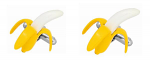 Banana Cufflinks Rhodium Plated