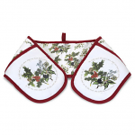 Pimpernel Holly & Ivy Double Oven Glove