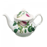 Roy Kirkham Redoute Rose Tea Pot Large Round