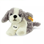 Steiff Little Little Tommy Puppy Grey & White 17cm