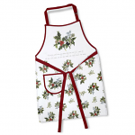 Pimpernel Holly & Ivy Cotton Drill Apron 62cm x 83cm