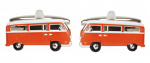 Campervan Orange Cufflinks Rhodium Plated