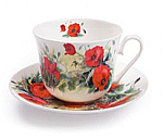 Roy Kirkham Breakfast Cup & Saucer - Poppy