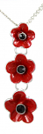 Poppy Pendant - Three Poppies