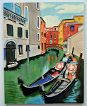 Ceramic Art Tile - Gondola 11in x 14in